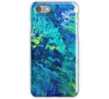 DIVE IN Abstract Acrylic Painting Ocean Waves Beach Art iPhone Case/Skin