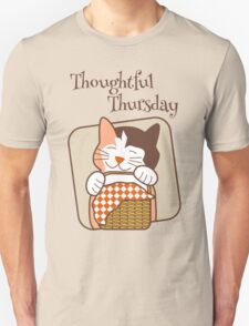 Thoughtful Thursday Days of the Week Cat T-Shirt