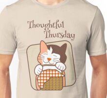 Thoughtful Thursday Days of the Week Cat Unisex T-Shirt
