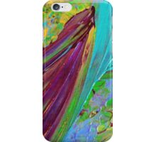 COLOR CHAOS Wild Vibrant Colorful Abstract Acrylic Painting Gift Art Decor iPhone Case/Skin