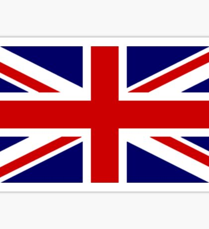 Union Jack, STICKER, British Flag, UK, United Kingdom, Pure & simple 1:2 Sticker