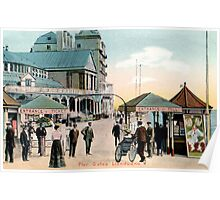 1890 Pier Gates Llandudno by the Sea Wales Poster