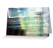 Train - 26 11 12 - Underlines  Greeting Card