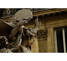 close up on carpeau sculpture, Paris  Photographic Print