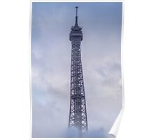 Effeil tower in the clouds in Paris, France  Poster