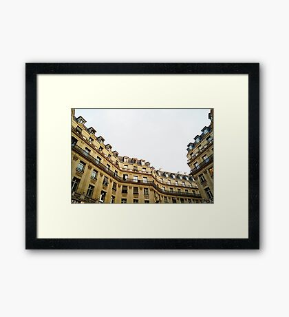 typical building hausmannian style in Paris, France  Framed Print