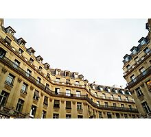 typical building hausmannian style in Paris, France  Photographic Print