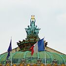 Rooftop of the Opera Garnier in Paris, France  by hpostant