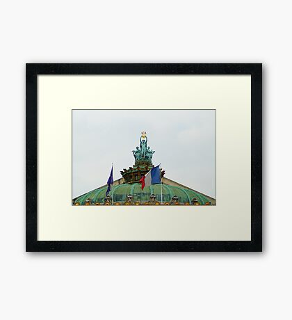Rooftop of the Opera Garnier in Paris, France  Framed Print