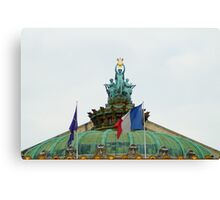 Rooftop of the Opera Garnier in Paris, France  Canvas Print