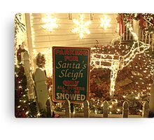 Parking for Santa's Sleigh Canvas Print