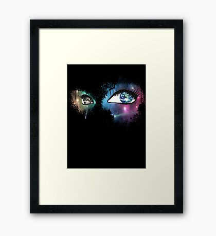 Active Optics-Black Framed Print