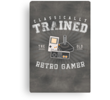Classically Trained Retro Gamer Canvas Print