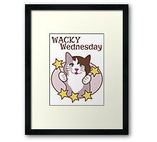 Wacky Wednesday Days of the Week Cat Framed Print