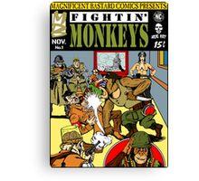 Fightin' Monkeys (Cover) print Canvas Print