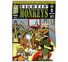 Fightin' Monkeys (Cover) print Poster