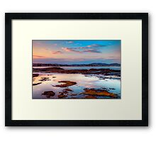 Terrigal Haven. (sunset) Framed Print