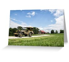 1942 Willys MB Jeep Greeting Card