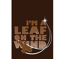 Leaf on the Wind - Browncoats Edition Photographic Print