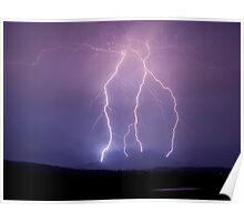 Moogerah Peaks Lightning Poster