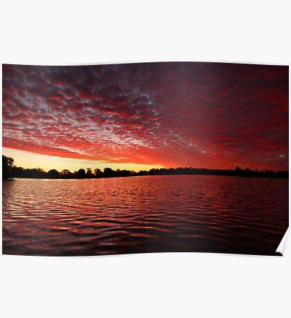 Tygum Lagoon Sunset Poster