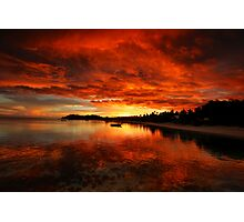 Mana Island Sunset Photographic Print