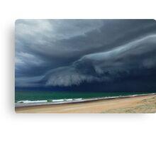 Sunrise Beach Storm Canvas Print