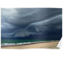 Sunrise Beach Storm Poster