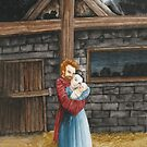 The Hug in the Stable by amanda steel
