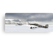 Hurricanes in the snow Canvas Print
