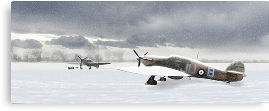 Hurricanes in the snow by Gary Eason