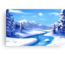 Snow and Mountains Canvas Print