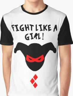 Fight Like A Girl Harley Quinn Graphic T-Shirt