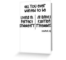 Coldplay - Perfect Symmetry (Black) Greeting Card