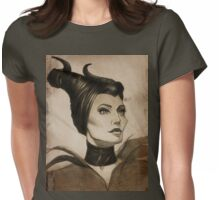 Maleficent drawing Womens Fitted T-Shirt