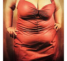 Big Beautiful Woman in red Dress Photographic Print
