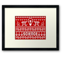 Science Ugly Christmas Sweater Framed Print