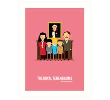 'The Royal Tenenbaums' tribute Art Print