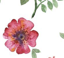 flowers watercolor of floral rose seamless pattern Sticker