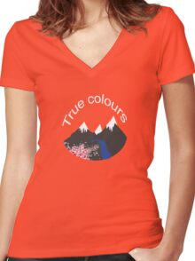 True colours m Women's Fitted V-Neck T-Shirt