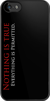 Nothing is True, Everything is permitted case Case (Black) by Vladyslav Varvanin
