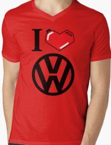 I Heart VW Mens V-Neck T-Shirt