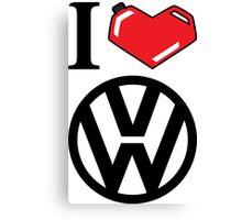I Heart VW Canvas Print