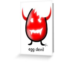 egg devil Greeting Card