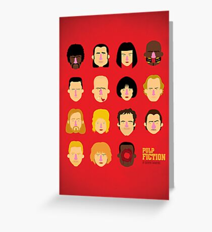 'Pulp Fiction' Greeting Card