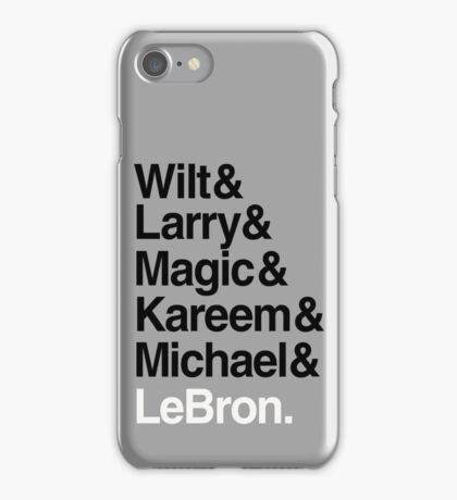 best players all the times. ( basketball ) iPhone Case/Skin