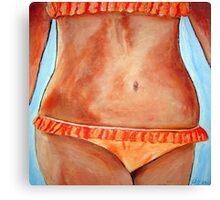 Peach Bikini  Canvas Print