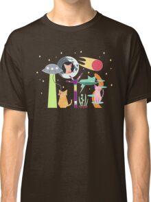 Alien Cat Tower Classic T-Shirt