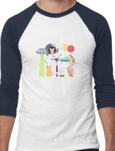 Alien Cat Tower Men's Baseball ¾ T-Shirt