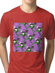 Jurassic Panda Logo Print Tri-blend T-Shirt